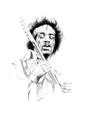Jimi Hendrix Poster by Gordon Van Dusen