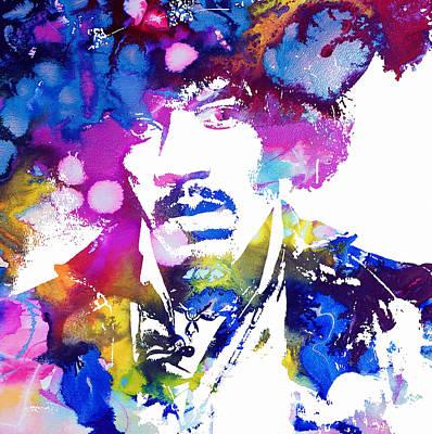 Jimi Hendrix - Psychedelic Poster by Doc Braham