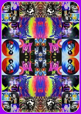 'jimi Kaleidoscope I' Poster by Christian Chapman Art