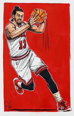 Joakim Noah Poster by Dave Olsen