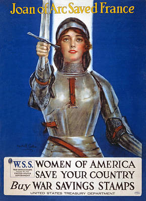 Joan Of Arc Saved France Poster by William Haskell Coffin
