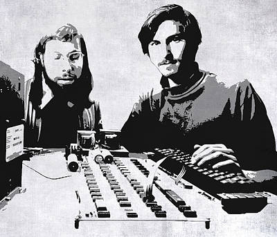 Jobs And Wozniak . . . In The Early Days  Poster by Daniel Hagerman