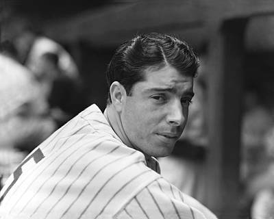 Joe Dimaggio In Dugout Poster by Retro Images Archive