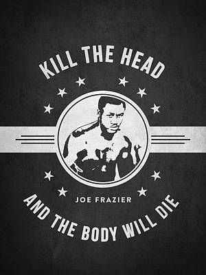Joe Frazier - Dark Poster by Aged Pixel