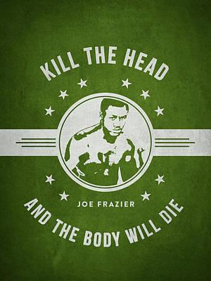 Joe Frazier - Green Poster by Aged Pixel