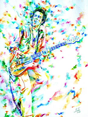 Joe Strummer Playing Live Poster by Fabrizio Cassetta