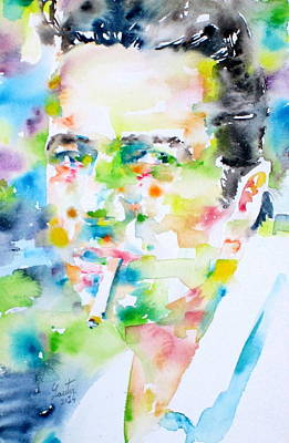 Joe Strummer - Watercolor Portrait Poster by Fabrizio Cassetta