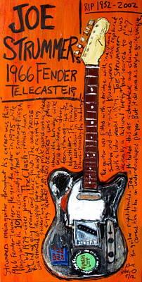 Joe Strummer's 1966 Telecaster Poster by Karl Haglund