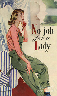 John Bull 1950s Uk Telephones Women�s Poster by The Advertising Archives