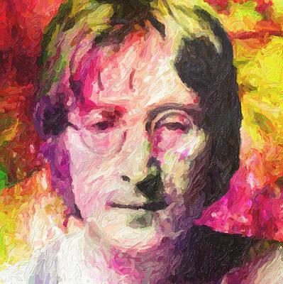 John Lennon Poster by Taylan Soyturk