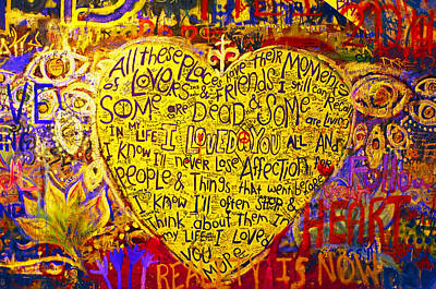 John Lennon Wall / Prague Poster by Kevin D Haley