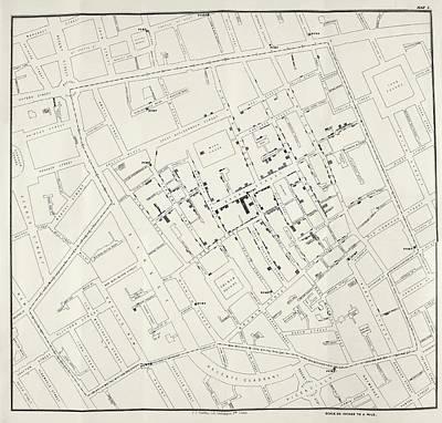 John Snow's Cholera Map Poster by British Library