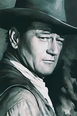 John Wayne Artwork Poster by Sheraz A