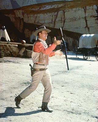 John Wayne In El Dorado  Poster by Silver Screen