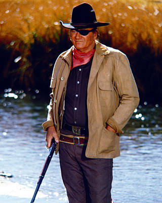 John Wayne In Rooster Cogburn  Poster by Silver Screen
