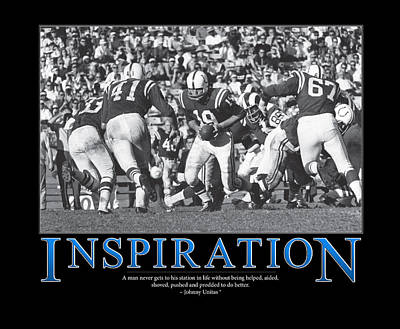 Johnny Unitas Inspiration  Poster by Retro Images Archive