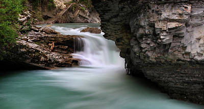 Johnston Falls, Banff National Park Poster by Panoramic Images