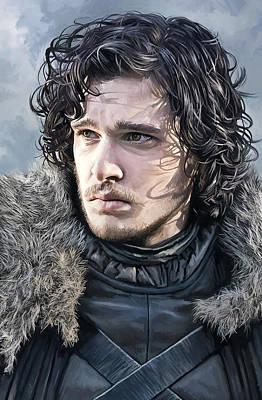 Jon Snow - Game Of Thrones Artwork Poster by Sheraz A