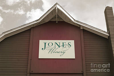 Jones Winery Barn Poster by John Turek