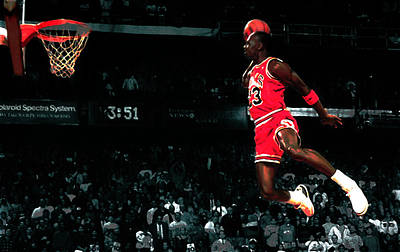 Jordan In Flight Poster by Brian Reaves