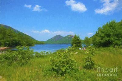 Jordan Pond Acadia National Park Poster by Diane Diederich