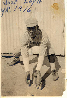 Jose Loya 1916 Baseball Photograph Poster by Ron Regalado