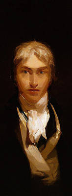 Joseph Mallord William Turner Portrait Poster by Celestial Images
