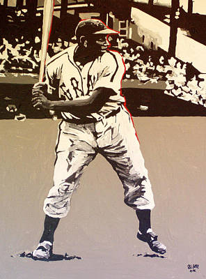 Josh Gibson Homestead Grays Poster by Paul Guyer