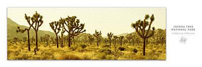 Joshua Tree National Park Art Poster - California Collection Poster by Ben and Raisa Gertsberg