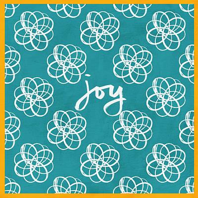 Joy Boho Floral Print Poster by Linda Woods