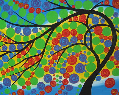 Joy In The Branches Poster by Cathy Jacobs