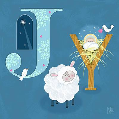 Joy To The World Poster by Valerie Drake Lesiak