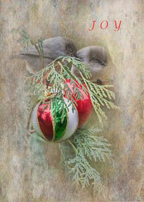Joyous Bushtits Poster by Angie Vogel