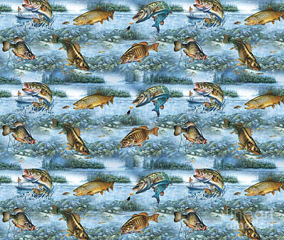 Jq Lake Fish Bedding Pillow Poster by Jon Q Wright