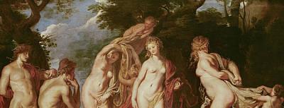 Judgement Of Paris Poster by Peter Paul Rubens