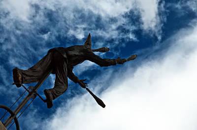 Juggling Statue Poster by Jess Kraft