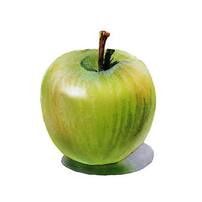 Juicy Green Apple Poster by Irina Sztukowski