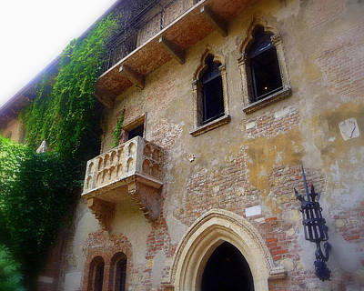 Juliet's Balcony In Verona Poster by Jodie Marie Anne Richardson Traugott          aka jm-ART