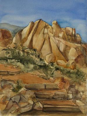 Jumbo Rocks At Joshua Tree Poster by Lynne Bolwell