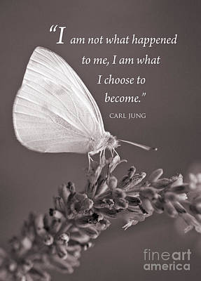 Jung Quotation And Butterfly Poster by Chris Scroggins