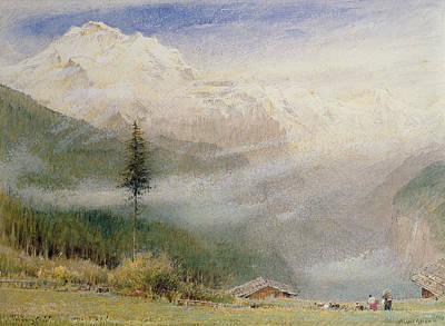Jungfrau, 1913 Poster by Albert Goodwin