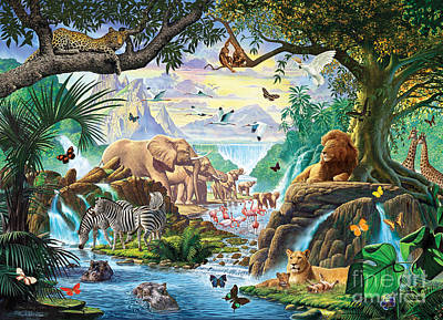 Jungle Five Poster by Steve Crisp
