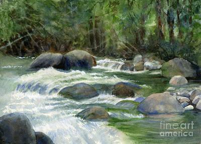 Jungle Stream Poster by Sharon Freeman