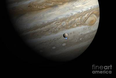 Jupiter And Europas Water Vapor Poster by Science Source