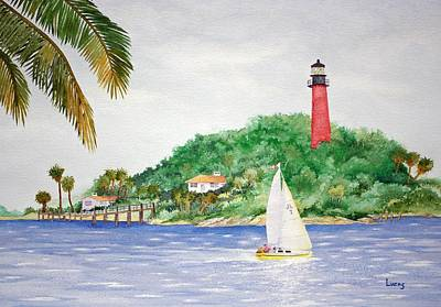 Jupiter Inlet Lighthouse Poster by Jeff Lucas
