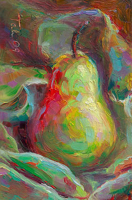Just A Pear - Impressionist Still Life Poster by Talya Johnson