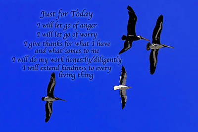 Just For Today 1 Poster by Bill Caldwell -        ABeautifulSky Photography