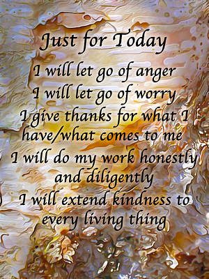 Just For Today 4 Poster by Bill Caldwell -        ABeautifulSky Photography