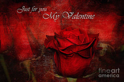 Just For You My Valentine Poster by Kaye Menner