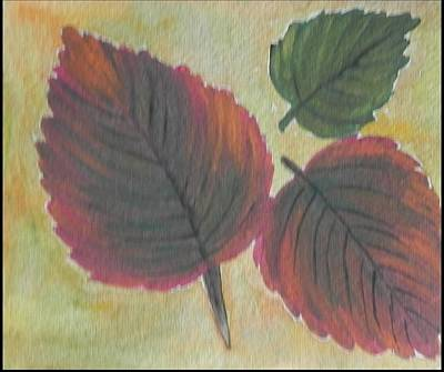 Just Leaves Poster by Usha Rai